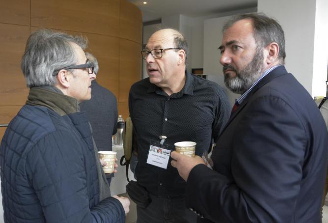 Pause café - JF Cibien (SAMU 47) - Philippe Dreyfus (SAMU 21) - François Braun (SAMU 57)